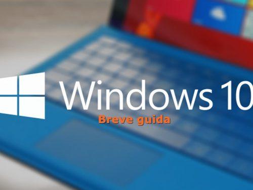 Breve guida a Windows 10 ~ step 4