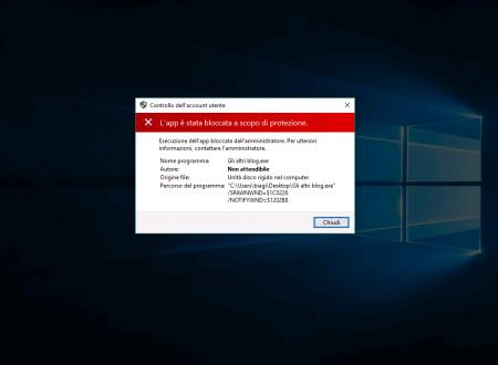 """App """"bloccata a scopo di protezione"""" in Windows 10"""