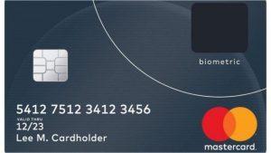 Carta di credito Mastercard con sensore biometrico integrato