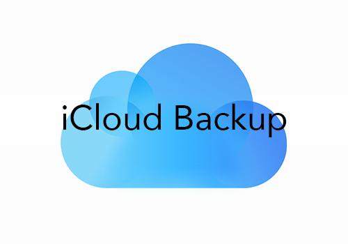 iCloud ~ Backup