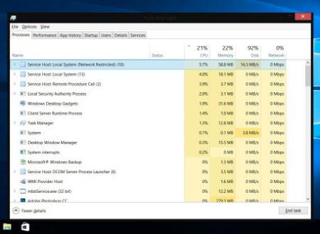 Gestione attività ~ Task manager di Windows